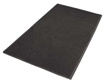 Carpeted Entrance Mat, Black, 4ft. x 6ft.