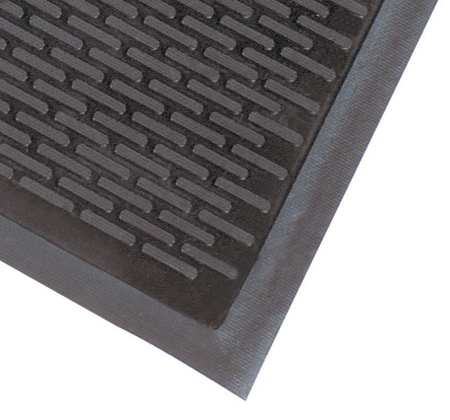 Rubber Entrance Mat, Black, 3ft. x 5ft.