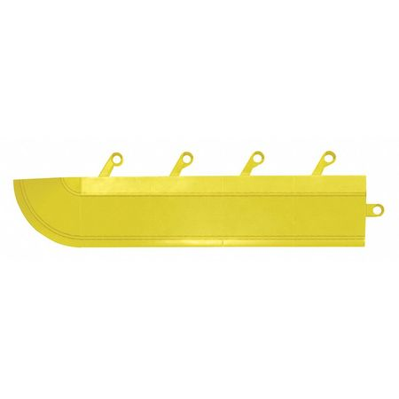 "Ramp with Corner, Yellow, 3"" x 15"", PK4"