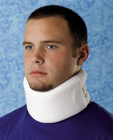 Cervical Collar, Soft Foam, White, M