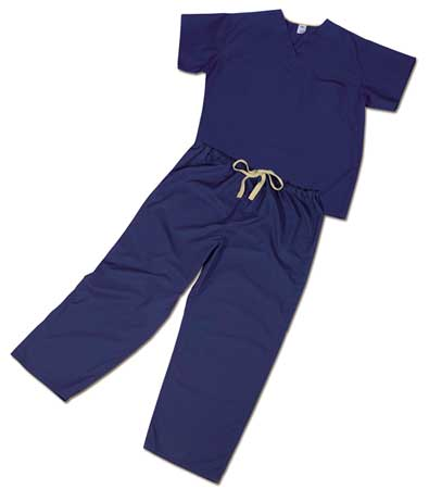 Scrub Pants, Unisex, 2XL, Blue