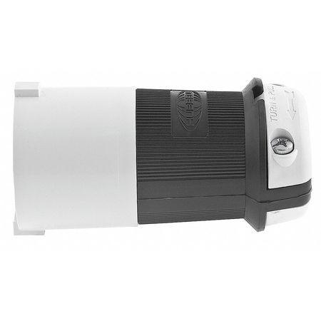 30A Locking Plug 3P 4W 600VAC L17-30P BK/WT