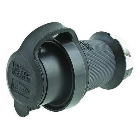 30A Watertight Locking Plug 2P 3W 250VAC L6-30P BK/WT