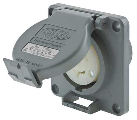 20A Watertight Locking Receptacle 2P 3W 277VAC