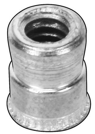 Thread Insert, M4x0.7, 9.400 L, Pk25