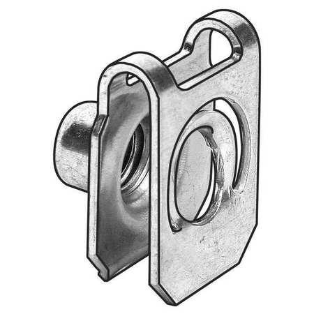 Spring Nut, U, 10-24, Steel, PK25