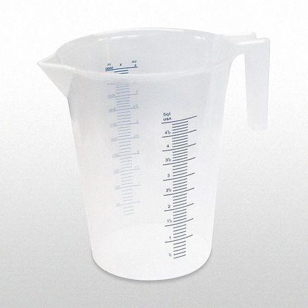 Measuring Container, Fixed Spout, 5 Quart