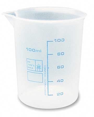 Measuring Container, Fixed Spout, 100 ML