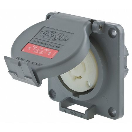 20A Watertight Locking Receptacle 3P 4W 480VAC