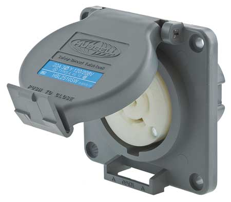20A Watertight Locking Receptacle 4P 5W 120/208VAC