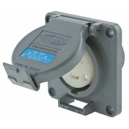 30A Watertight Locking Receptacle 2P 3W 250VAC