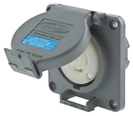 30A Watertight Twist-Lock Receptacle 3P 4W 250VAC