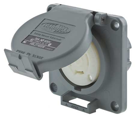 30A Watertight Locking Receptacle 3P 4W 600VAC