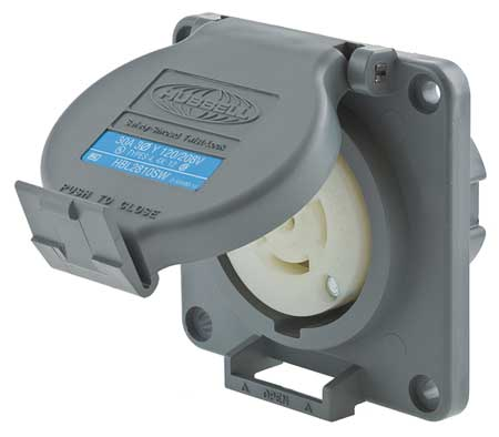 30A Watertight Locking Receptacle 4P 5W 120/208VAC