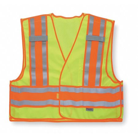 2XL Class 2 High Visibility Vest,  Lime