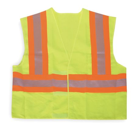 Large Class 2 Cool Dry High Visibility Vest,  Lime
