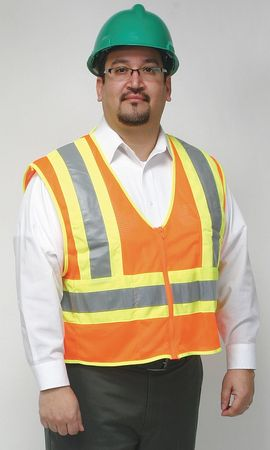 Flame Resist High Visibility Vest, 4XL, Orange
