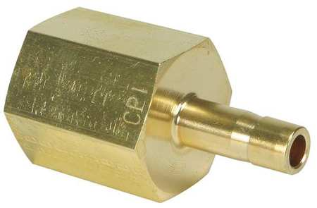 "1/4"" FNPT x CPI Tube Stub Brass Adapter"