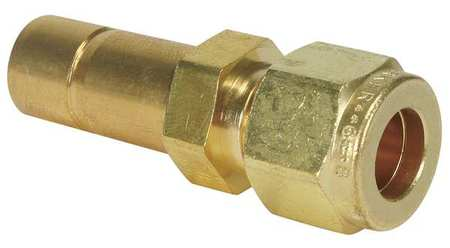 "1/4"" A-LOK x Tube Stub Brass Tube End Reducer"