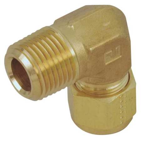 "3/4"" A-LOK x MNPT Brass 90 Degree Elbow"
