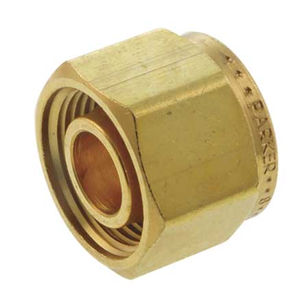 "1"" Compression Brass Cap"
