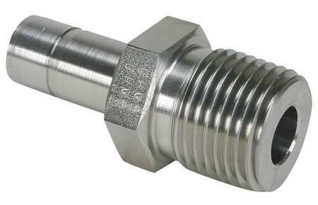 "3/8"" A-LOK x MNPT SS Tube End Male Adapter"