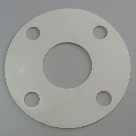 Flange Gasket, Full Face, 1 1/2 In, Nitrile