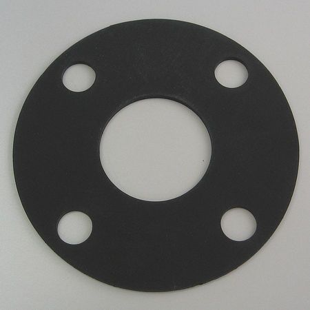 Flange Gasket, Full Face, 8 In, Viton