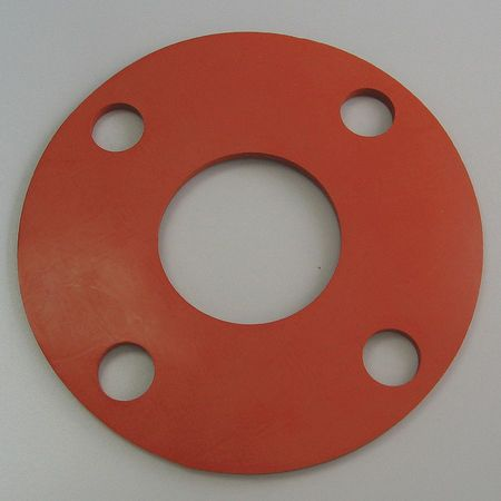 Flange Gasket, Full Face, 1 1/2In, Silicone