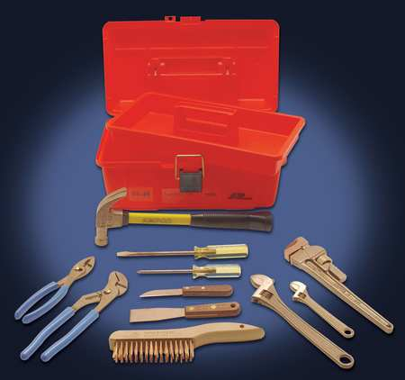 Hazmat Nonsparking Tool Set, 11 pc.