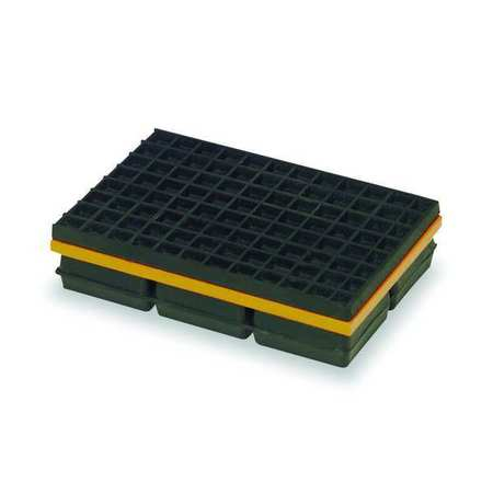 Vibration Isolation Pad, 10x12x1 1/4 In