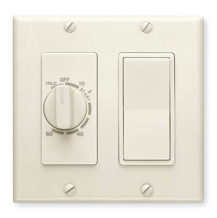 Timer, Mechanical, 120/240 V, White
