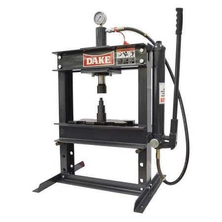 dake corporation hydraulic press, 10 t, manual pump, 36 in 972200hydraulic press, 10 t, manual pump, 36 in