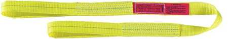 Web Sling, Type 3, Polyester, 2inW, 24 ft.L