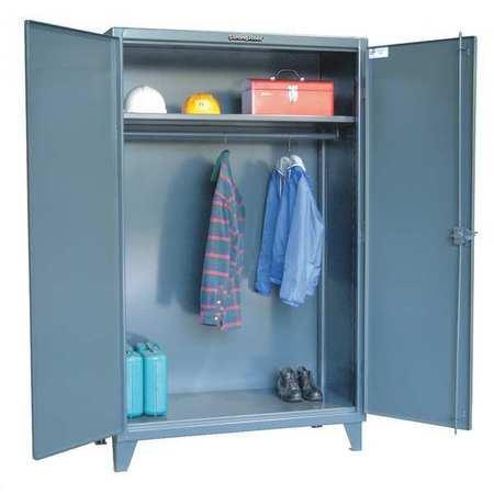 Wardrobe Cabinet, Hanger Rod, 48 In. W