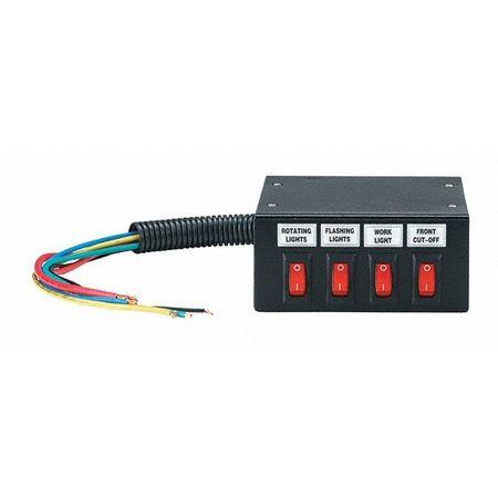 Federal Signal Switch Box, 12V, 4 Terminals, Lamp Cap. 20 SW200-B ...