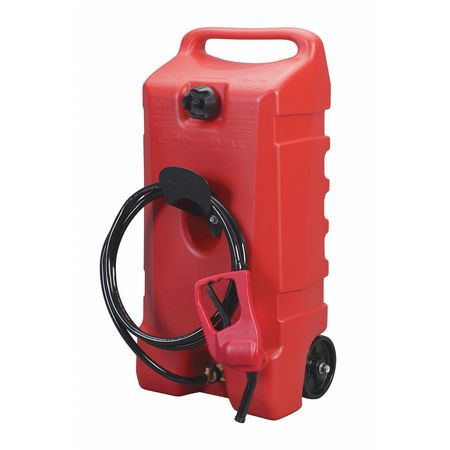 14 gal. Red Polyethlene Fuel Caddy,  For Fueling