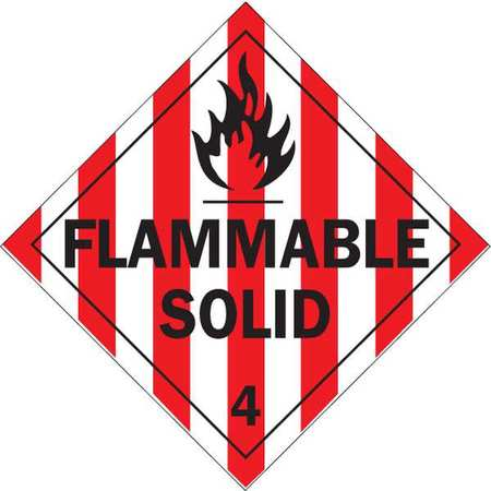 Vehicle Placard, Flammable Solid