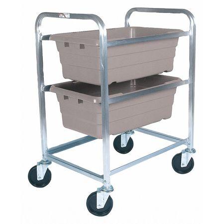 Zoro Select Tub Rack, 600 lb. Ld Cap., Aluminum Cart AL-L-2/KTGY ...