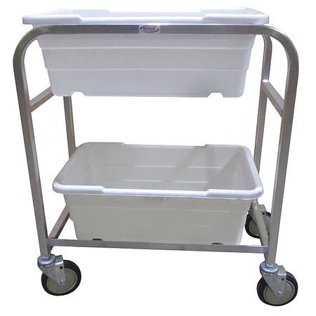 Zoro Select Tub Rack, 600 lb. Ld Cap., Aluminum Cart AL-L-2/KIT ...