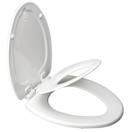 wooden white toilet seat. Toilet Seat  Molded Wood White 17 1 16 H Bemis 1483SLOW Zoro Com