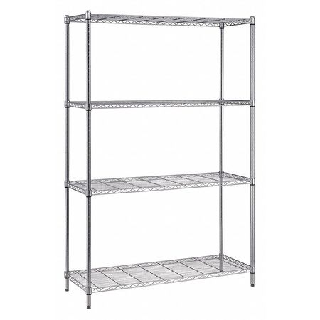 Box Wire 4-Shelf Unit, 18 x 30 x 72 in.