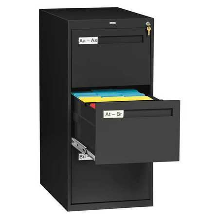 Perfect 3 Drawer Legal Vertical File Cabinet, Black