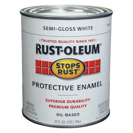 Rust Brushedpaint Semigloss White