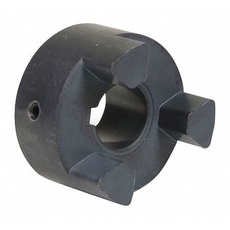 Jaw Coupling Hub, L095, Sint Iron, 7/16""