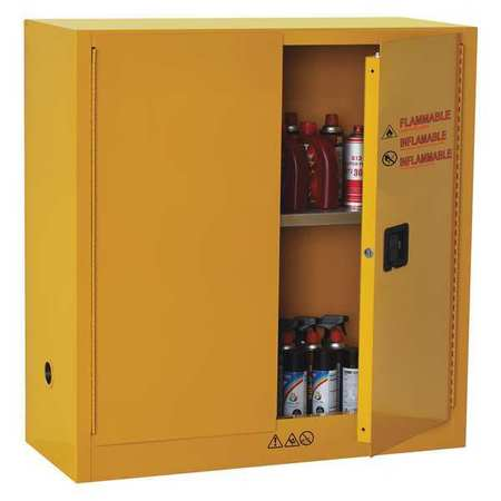 flammable safety cabinet 30 gal yellow