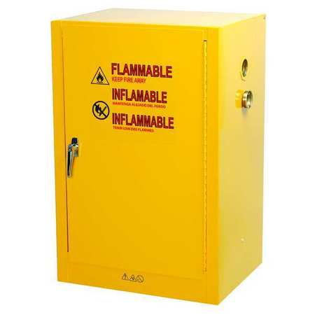 Condor Flammable Safety Cabinet, 12 Gal., Yellow 42X503 | Zoro.com