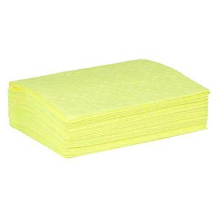 Absorbent Pad, Chem/Hazmat, Yellow, PK50