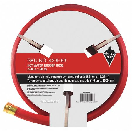 Water Hose Hot/Cold Rubber 50 ft. Red  sc 1 st  Zoro Tools & Tough Guy Water Hose Hot/Cold Rubber 50 ft. Red 423H83 | Zoro.com