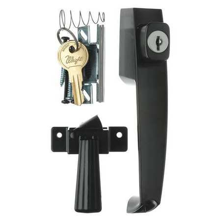 Wright Products Keyed Push Button Latch Black Vk333x3bl